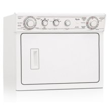 White-on-White Whirlpool® 6 Cycle, Extra Large Capacity Washer With Electric Dryer