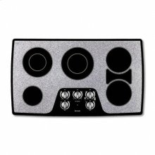 """36"""" WHITE CERAMIC ELECTRIC MECHANICAL KNOBS COOKTOP"""