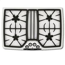 """30"""" WHITE PORCELAIN STEEL GAS COOKTOP"""