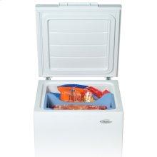 White-on-White 5.3 Cu. Ft. Chest Freezer