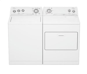 White-on-White Whirlpool® Super Capacity Electric Dryer