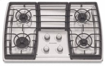 4 Burners Stainless Steel with Clear Coat Surface Gas 30 in. Width(Stainless Steel)
