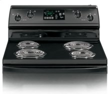 Black-on-Black 30-Inch Standard Clean Freestanding Electric High-Speed Coil Range