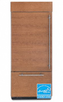 20.4 Cu. Ft. 36 in. Width Freezer-on-the-Bottom Built-In Refrigerator Overlay Series Left-Hand Door Swing(Brushed Aluminum Trim/Panel Ready)