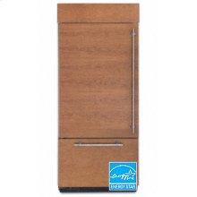 20.4 Cu. Ft. 36 in. Width Freezer-on-the-Bottom Built-In Refrigerator Overlay Series Left-Hand Door Swing(Brushed Aluminum Trim/Panel Ready)