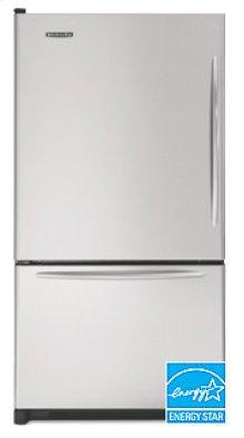 22.1 Cu. Ft. 32 5/8 in. Width Freezer-on-the-Bottom Refrigerator Architect® Series Left-Hand Non-Reversible Door Swing(Stainless Steel)