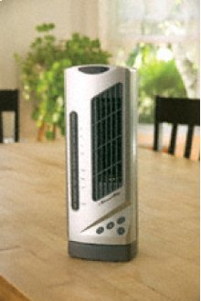Compact Desktop Tower Fan with Ionizer