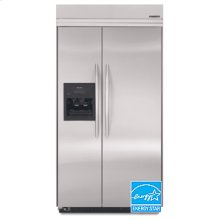29.8 Cu. Ft. 48 in. Width Side-By-Side Dispensing Built-In Refrigerator Architect® Series(Stainless Steel)
