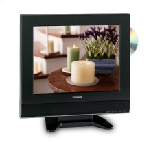 """15"""" Diagonal LCD Television with Built-in DVD Player"""