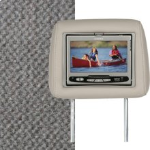 Dual Custom Headrest System with Built-in DVD Player. Chevy Trailblazer; GMC Envoy, Color is Light Gray.