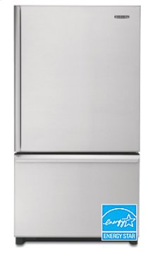20.3 Cu. Ft. 35 5/8 in. Width Counter-Depth Freezer-on-the-Bottom Refrigerator(Stainless Steel)
