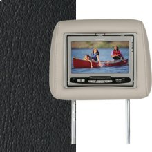 Dual Custom Headrest System with Built-in DVD Player. Hummer H2. The Color is Ebony.