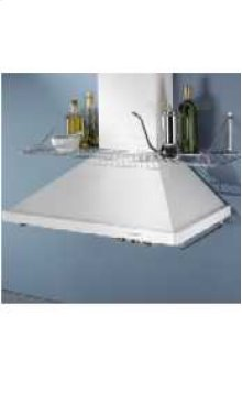 Wall-Mount 600 CFM Exhaust Rating 30 in. Width Canopy(White)