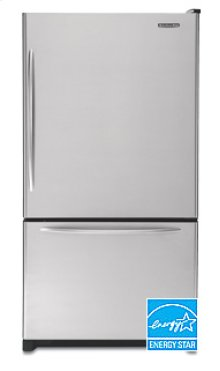 20.3 Cu. Ft. 35 5/8 in. Width Counter-Depth Freezer-on-the-Bottom Refrigerator Architect® Series(Stainless Steel)