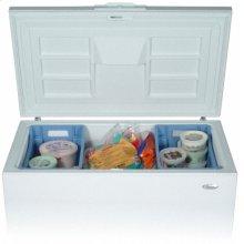 White-on-White 14.8 Cu. Ft. Chest Freezer