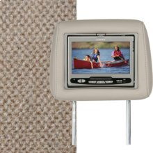 Dual Custom Headrest System with Built-in DVD Player. GMC Envoy, Color is Light Cashmere.