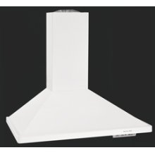 Wall-Mount 600 CFM Exhaust Rating 36 in. Width Canopy(White)