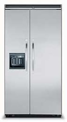 """Designer Series Side-by-Side Refrigerator/Freezer with Ice and Water Dispensers 42"""" Width"""