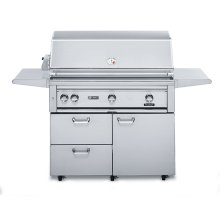 "42"" Free Standing Grill with Rotisserie (L42FR-1)"
