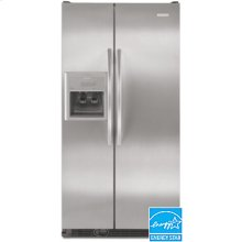 23 Cu. Ft. 35-11/16 in. Width Counter-Depth Side-By-Side Refrigerator Trimless Wrap-Around Doors Electronic Through-the-Door Ice and Water Dispenser Architect® Series II(Monochromatic Stainless Steel)