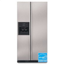 24.5 Cu. Ft. 35 5/8 in. Width Counter-Depth Side-by-Side Dispensing Freestanding Refrigerator(Stainless Steel)