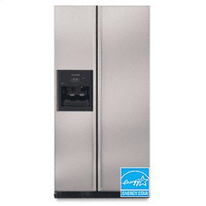 KitchenAid24.5 Cu. Ft. 35 5/8 in. Width Counter-Depth Side-by-Side Dispensing Freestanding Refrigerator(Stainless Steel)