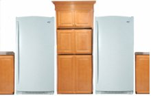 White-on-White 35.4 Cu. Ft. SideKicks Refrigerator/Freezer