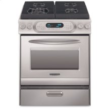 30 in. Width 4 Burners Porcelain Cooktop Convection Oven Architect® Series Gas Slide-In Range(Stainless Steel)