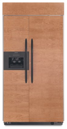20.9 Cu. Ft. 36 in. Width Side-By-Side Dispensing Built-In Refrigerator Overlay Series(Black Trim/Panel Ready)