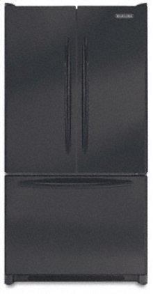 19.8 Cu. Ft. 35 5/8 in. Width Counter-Depth French-door Freezer-on-the-Bottom Refrigerator Architect® Series(Black)