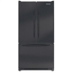 KitchenAid19.8 Cu. Ft. 35 5/8 in. Width Counter-Depth French-door Freezer-on-the-Bottom Refrigerator Architect® Series(Black)