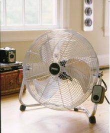 "Name18"" High Velocity Floor Fan "" Aluminum Blades/Chrome"