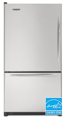20.3 Cu. Ft. 35 5/8 in. Width Counter-Depth Freezer-on-the-Bottom Refrigerator Architect® Series Left-Hand Non-Reversible Door Swing(Stainless Steel)