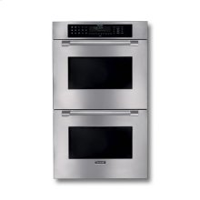 "30"" STAINLESS STEEL DOUBLE CONVECTION/THERMAL OVEN W/ PROFESSIONAL SERIES HANDLES"