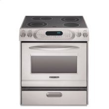 30 in. Width 4 Elements Warming Drawer Ceramic Glass Cooktop True Convection Oven Architect® Series CleanBake™ Electric Slide-In Range(Stainless Steel)