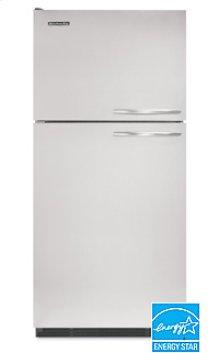 21.5 Cu. Ft. 32 1/2 in. Width Freezer-on-the-Top Freestanding Refrigerator Superba® Architect® Series Le ft-Hand Non-Reversible Door Swing(Black Cabinet/Stainless Steel Doors)