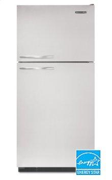 21.5 Cu. Ft. 32 1/2 in. Width Freezer-on-the-Top Freestanding Refrigerator Superba® Architect® Series Right-Hand Non-Reversible Door Swing(Black Cabinet/Stainless Steel Doors)