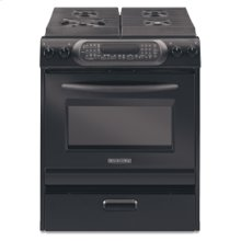 30 in. Width 4 Burners Porcelain Cooktop Convection Oven Architect® Series Gas Slide-In Range(Black)
