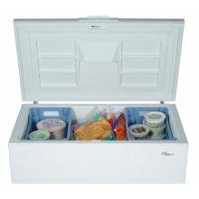 White-on-White 10.0 Cu. Ft. Chest Freezer