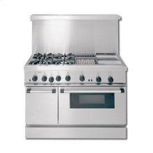 "48"" CLASSIC ALL-GAS RANGE WITH 4 BURNERS, GRIDDLE & GRILL"