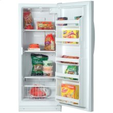 White-on-White 11.6 Cu. Ft. Upright Freezer