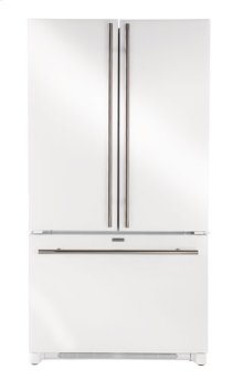 White-on-White 24-Inch Double Built-In Oven