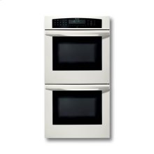 """27"""" WHITE DOUBLE   CONVECTION/CONVECTION   OVEN WITH ROBUST HANDLE"""
