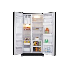 25.2Cu. Ft. Side by Side Refrigerator-Black