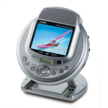 """3.5"""" TFT PORTABLE DVD/CD/MP3 PLAYER WITH BUILT-IN STEREO SPEAKERS"""