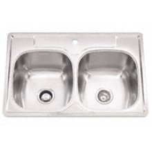 "Bowl Sink, 9.5 Inch Depth, Whisper Quiet"", 1-Hole, Min 36 Inch Cabinet"