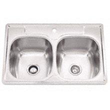 "Bowl Sink, 9.5 Inch Depth, Whisper Quiet"", 1-Hole, Min 36 Inch Cabinet"