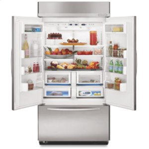 KitchenAid22.5 Cu. Ft. 42-in. Width Freezer-on-the-Bottom Built-In Refrigerator Architect® Series French-Door(Stainless Steel)