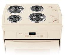Black-on-Black 30 in. Self-Cleaning Drop-In Electric High-Speed Coil Range