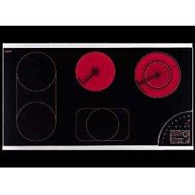"36"" glass-ceran digital cooktop with 5 cooking zones"